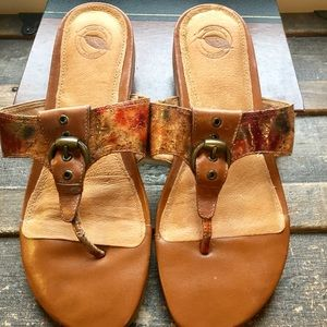 Nurture Leather Buckle Sandals